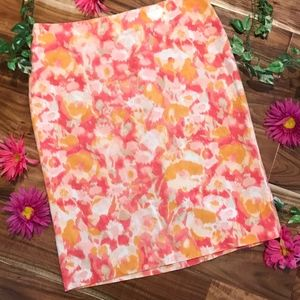 Talbots Skirt size 8 Pink Orange Straight Pencil